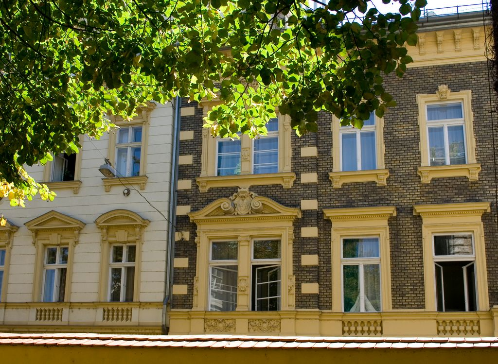 Photo facades of houses in szerb utca serbian street in the centre of budapest - Photo of houses ...
