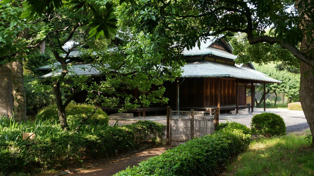Photo: Suwa tea pavillon in the gardens of the Imperial Palace in ...